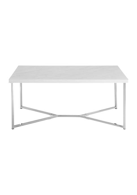 Bridgeport Designs Modern Glam Square Coffee Table