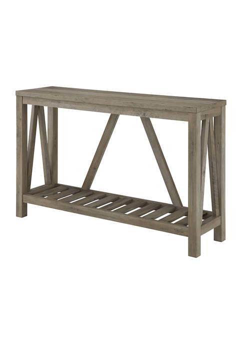 Rustic Farmhouse Entryway Console Table