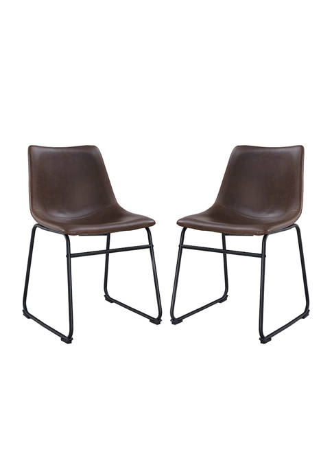 Set of 2 Industrial Dining Chairs
