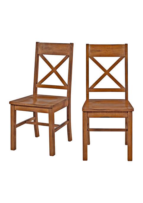 Bridgeport Designs Set of 2 Farmhouse Dining Chairs