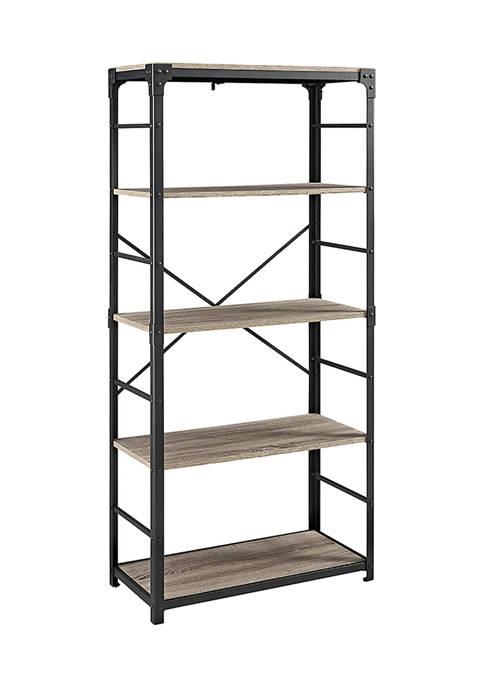 Rustic Industrial 4 Shelf Bookshelf