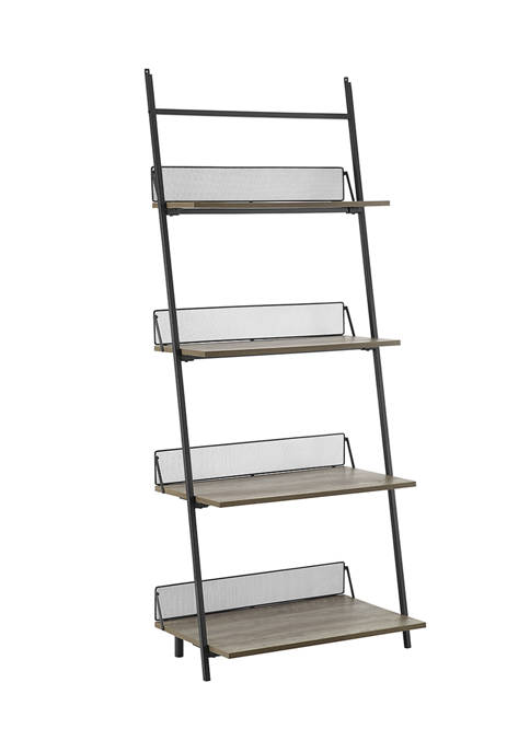 Bridgeport Designs Industrial Leaning Wall 4 Shelf Bookshelf