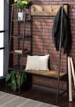 Industrial Rustic Entryway Hall Tree Coat Rack Bench