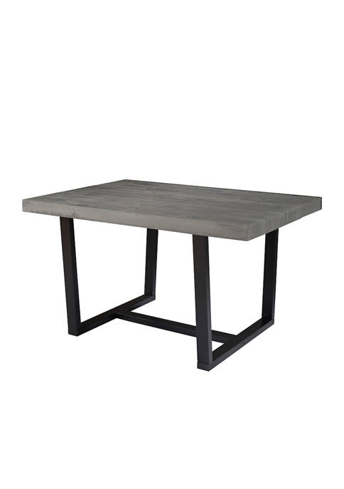 Bridgeport Designs 52 Inch Distressed Farmhouse Dining Table