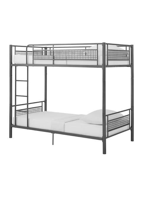 Bridgeport Designs Twin Mesh Kids Bunk Bed