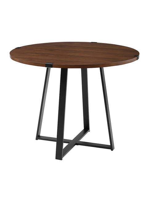 Bridgeport Designs Industrial Farmhouse Round Dining Table