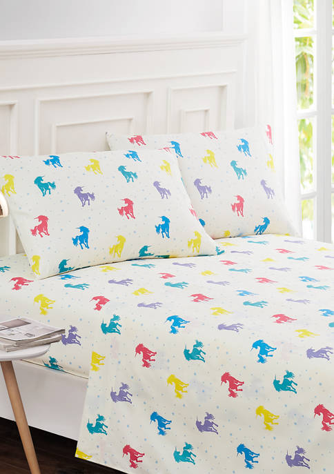 Harper Lane Rainbow Unicorn Sheet Set