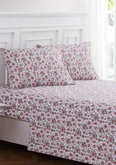 Harper Lane Pink Roses Sheet Set