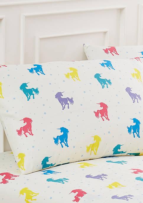 Harper Lane Rainbow Unicorn Pillowcase Pair Standard