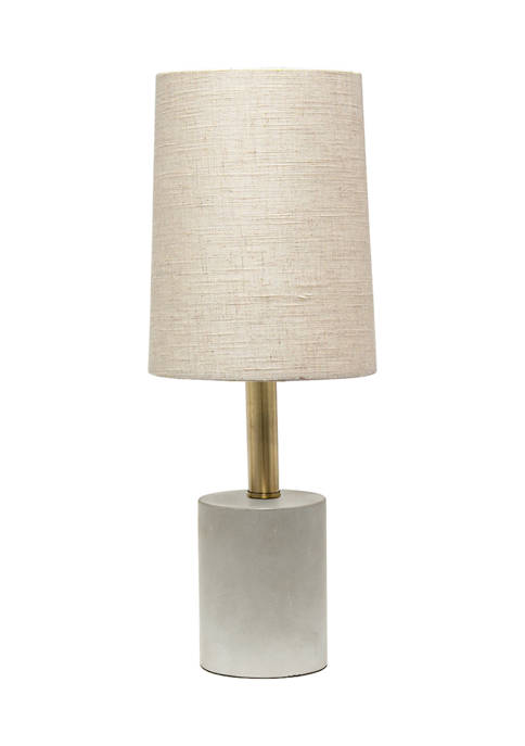 Lalia Home Antique Brass Concrete Table Lamp with