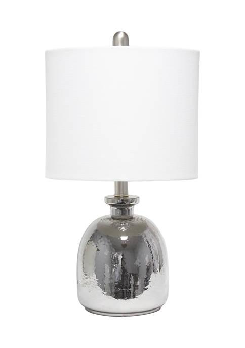 Lalia Home Metallic Gray Hammered Glass Jar Table
