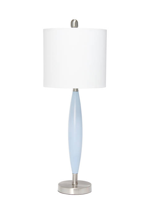 Lalia Home Stylus Table Lamp with White Fabric