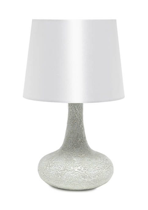 Simple Designs Mosaic Tiled Glass Genie Table Lamp