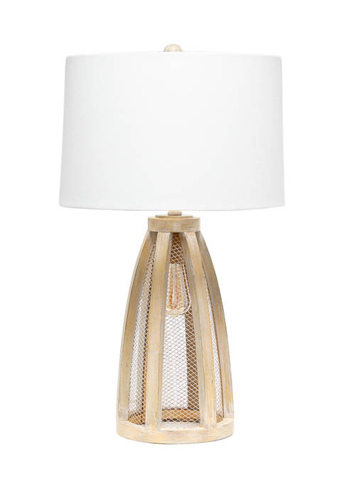 Lalia Home Wooded Arch Farmhouse Table Lamp with