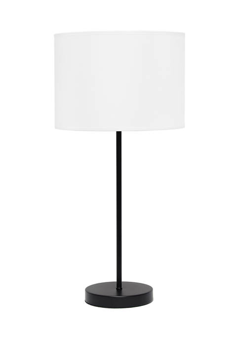 Simple Designs Stick Lamp with Fabric Shade