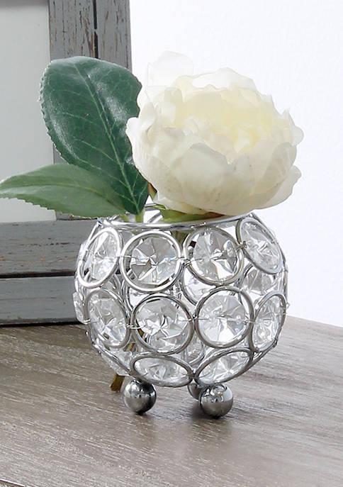 Elegant Designs Elipse Crystal Circular Bowl Candle Holder