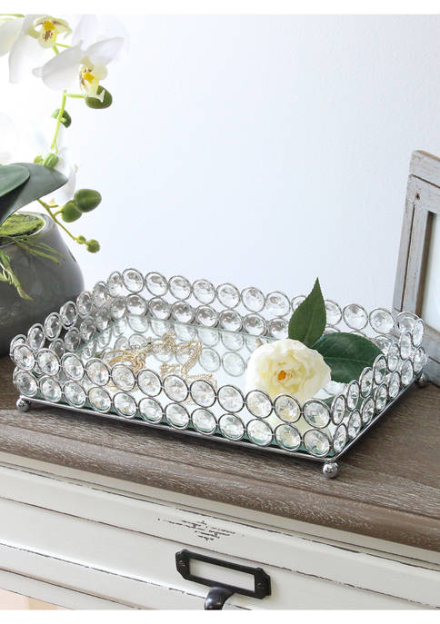 Elegant Designs Elipse Crystal Decorative Mirrored Vanity
