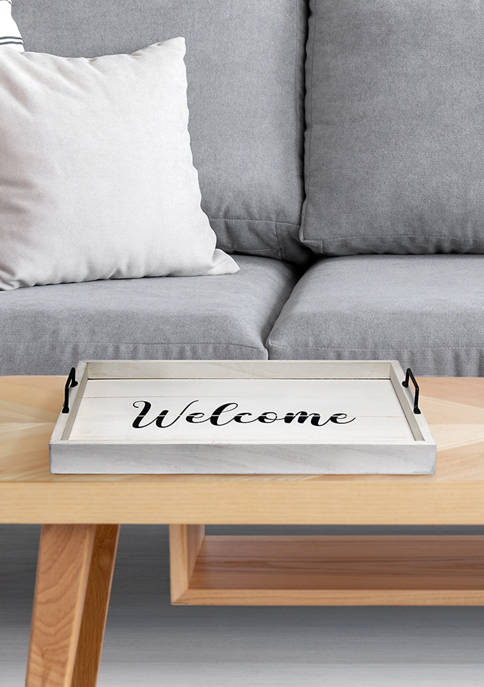 Elegant Designs Welcome Serving Tray