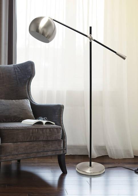 Lalia Home Black Matte Swivel Floor Lamp with