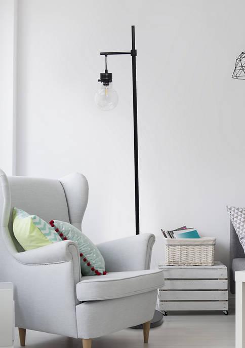 Lalia Home Black Matte One Light Beacon Floor
