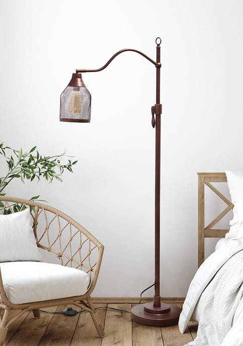Lalia Home Vintage Arched One Light Floor Lamp