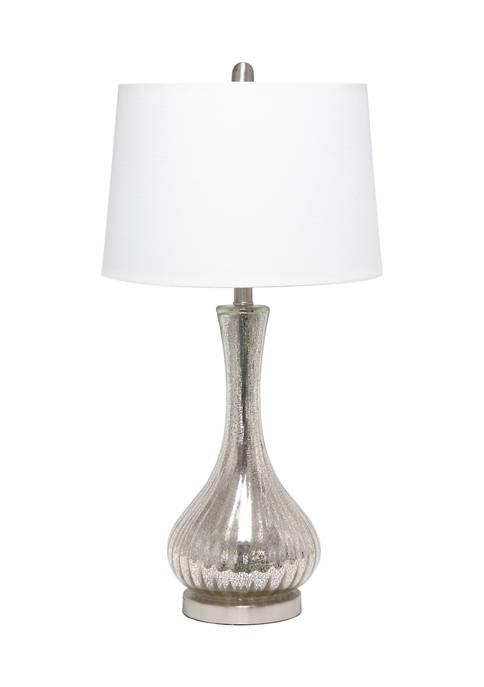 Lalia Home Speckled Mercury Tear Drop Table Lamp