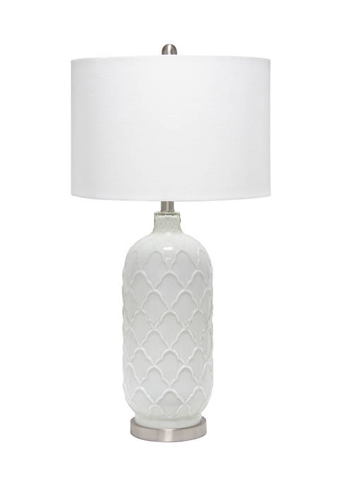 Lalia Home Argyle Classic White Table Lamp with