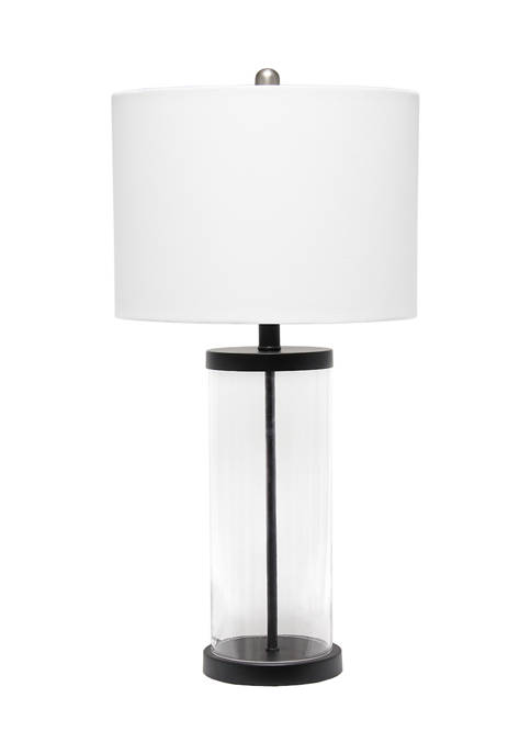 Lalia Home Entrapped Glass Table Lamp with White