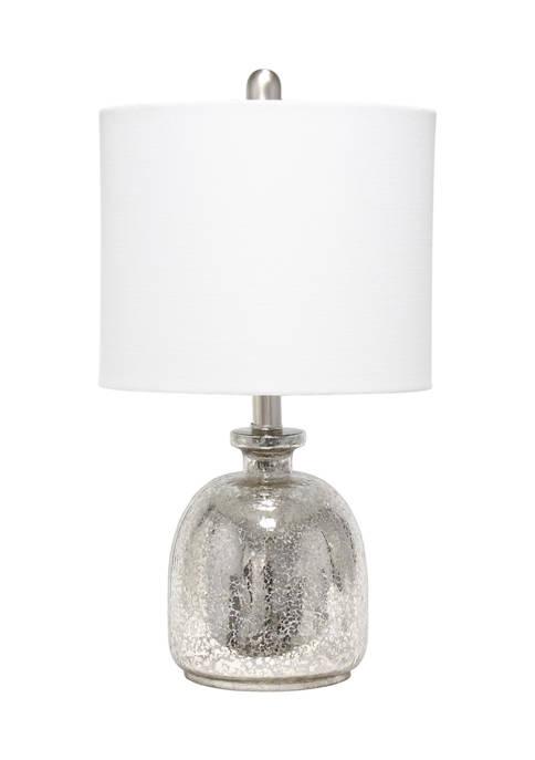 Lalia Home Mercury Hammered Glass Jar Table Lamp