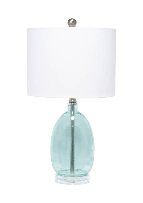 Lalia Home Oval Glass Table Lamp with White