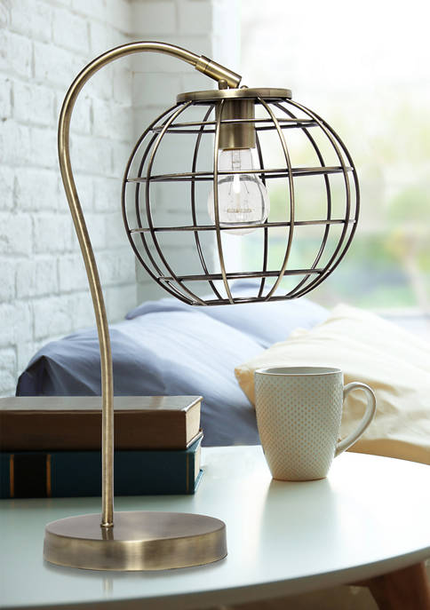 Lalia Home Arched Metal Cage Table Lamp