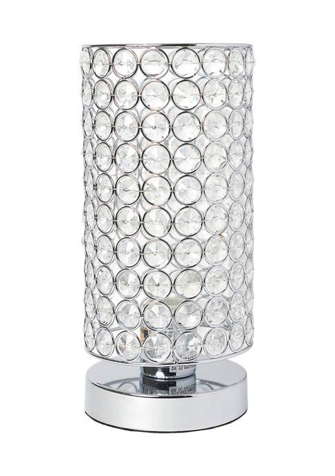 Elegant Designs Elipse Crystal Cylindrical Uplight Table Lamp,