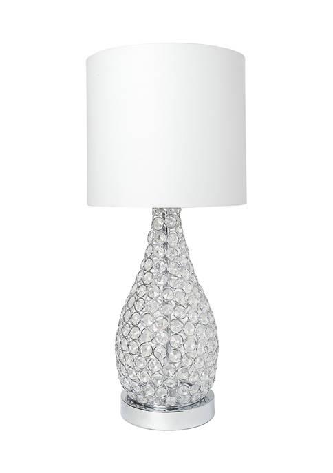 Elipse Crystal Decorative Gourd Table Lamp, Chrome
