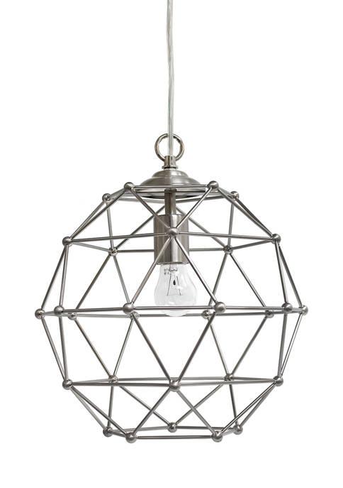 Elegant Designs 1 Light Hexagon Industrial Rustic Pendant