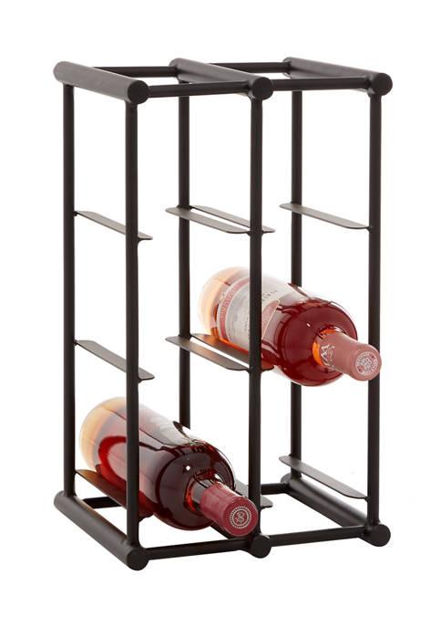 Monroe Lane Black Metal Industrial Wine Rack