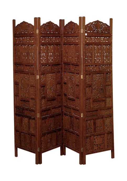 Traditional Moorish Paneled Wooden Screen Divider