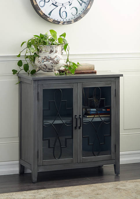 Monroe Lane Grey Wood Country Cottage Cabinet