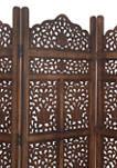 Wood 4 Panel Screen
