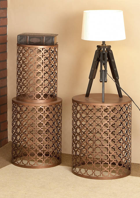 Monroe Lane Metal Round End Table