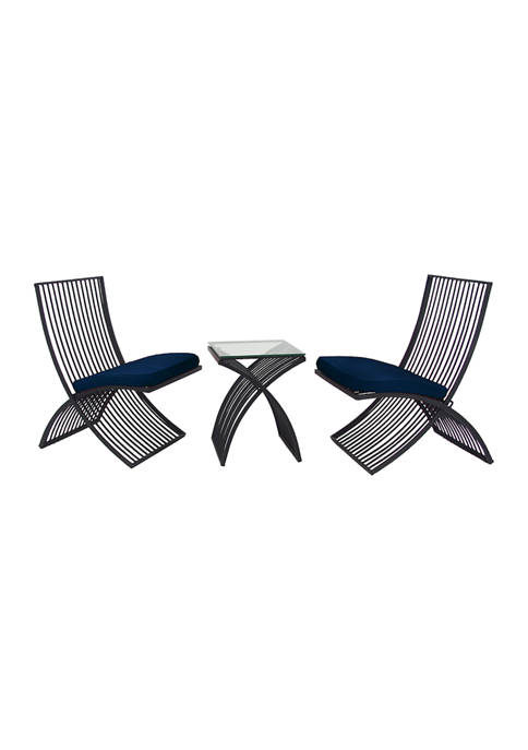 Glass Outdoor Seating- Set of 3