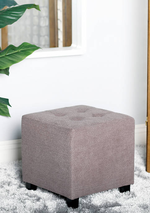 Traditional Square Pouf