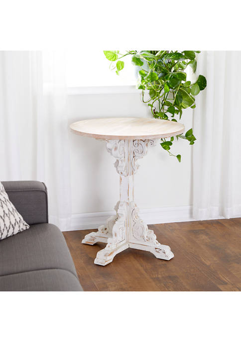 Monroe Lane Traditional Round Wood Accent Table