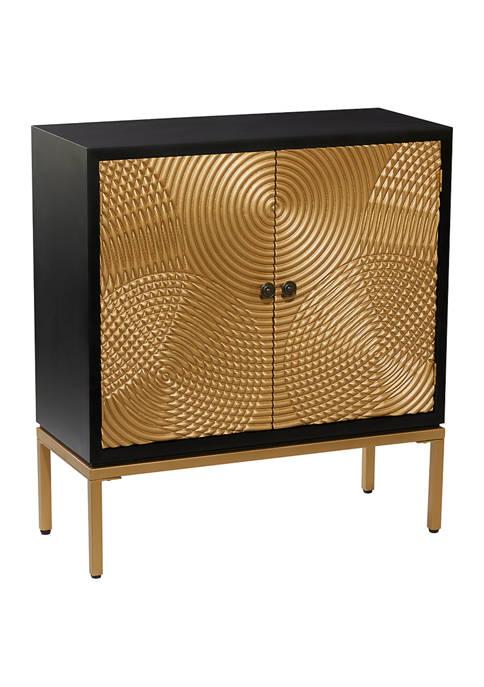 Monroe Lane Bronze Wood Contemporary Cabinet