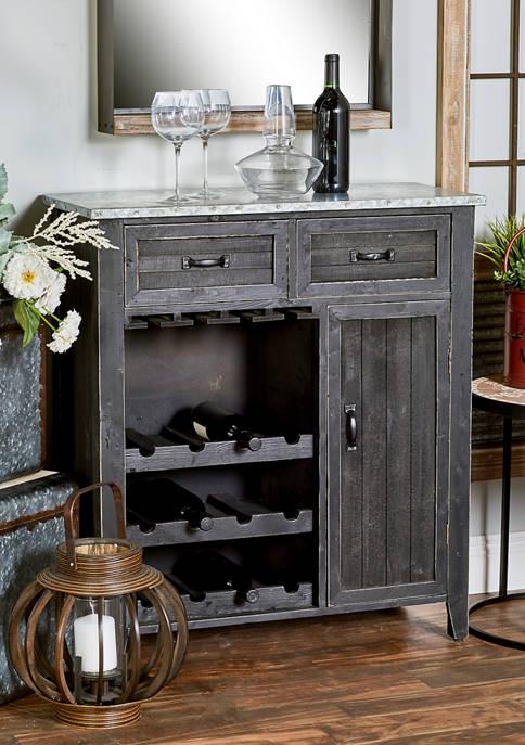 Monroe Lane Farmhouse Wine Cabinet
