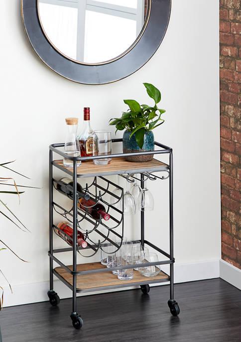 Metal Wine Rack Bar Cart