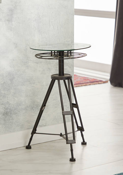 Classic Camera Reel Accent Table