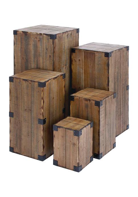 Monroe Lane Set of 5 Wood Pedestals