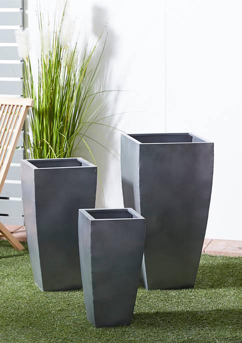 Modern Metal Planters - Set of 3