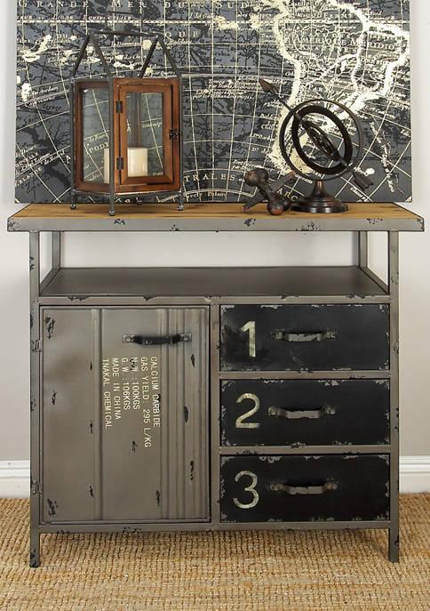 Monroe Lane Industrial Repurposed Metal Utility Cabinet with