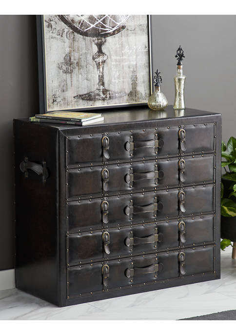 Wooden Leather Chest